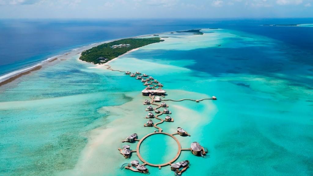 The Maldives birds eye view