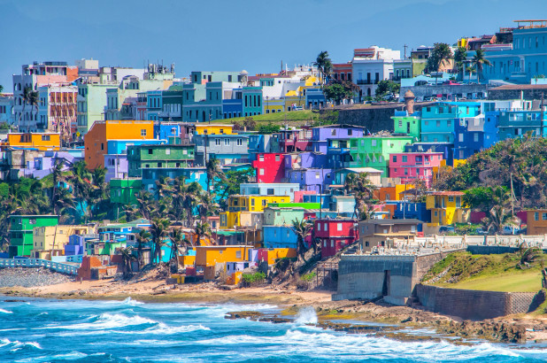 Colourful houses in San Juan